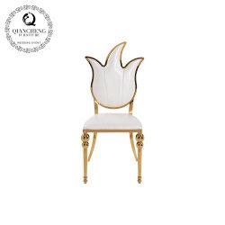 Commerce de gros de l'or en métal banquet de mariage Designer chaise de salle à manger
