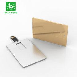 Logo personnalisé carte de crédit d'aluminium métal lecteur Flash USB/USB 2.0/3.0 métallique de la carte d'affaires Memory Stick™ USB