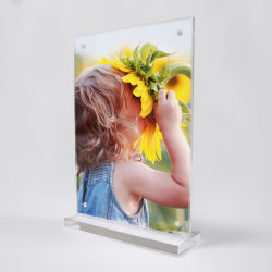 Custom acrylique clair signe magnétique titulaire photo photos Afficher les cadres
