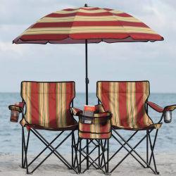 더 차가운 부대를 가진 우산 일요일 닫집 간편 의자를 가진 Hotsales 두 배 시트 비치용 의자