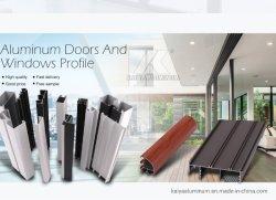 Ventana de aluminio 6063 T5 de extrusiones de perfiles para el mercado sudamericano