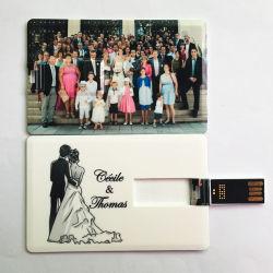 Custom Logo Print Ultra Thin Slim Pendrive Kreditkarte Geformt Abdeckung USB-Stick Flash-Laufwerk