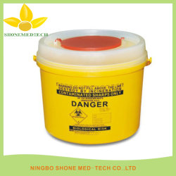 Plastikscharf-Behälter, medizinischer Wegwerfnadel-Kasten