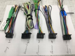 Kenwood ISO 16 Pin車の音声のためのステレオワイヤー馬具