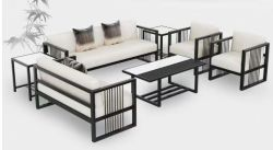北欧様式の余暇のソファーの金属フレームのホテルの家具の白い部門別のソファー