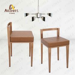 Hogar Muebles de Dormitorio PU el asiento de acero inoxidable de Oro de la barra de la Cómoda silla taburete alto