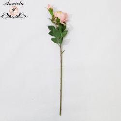 Single-Stem dois gomos de casamento de flores de Seda Home Próteses Rose Flores