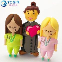 Decoratie Keyfob van de Producten van de Herinnering van de Reis van de Sleutelring van Doll van het Beeldverhaal van de Gift van het Huwelijk van Anime van de Vrouwen van het Embleem van pvc van de douane 3D RubberKeychain Gepersonaliseerde voor PromotiePunten