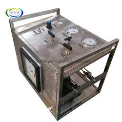Booster neumático la presión de gas de banco de prueba de bomba con la grabadora de mecánica