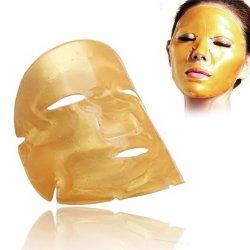 Kristallkollagen-Gesichts-Gesichtsschablone des Gold24k für Antiaushärtung, das Weiß werden, Puffiness, Antiknicke und befeuchtende Ölsteuerung