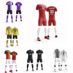Erwachsene kundenspezifische FußballJerseys stellten Fußball-die Uniformen der Installationssatz-Mann-DIY ein, die Klagen neu ausbilden