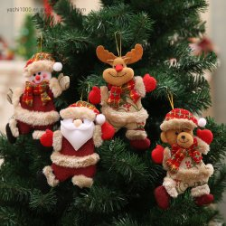 La promotion de nouveaux arbres de Noël Cadeau pendaison ornements Toy Doll Décorations