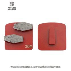 Bloqueio de redi HTC Husqvarna abrasivo vínculo de resina de metal das sapatas de moagem de segmentos de Corte Diamante Lavina Quickchange Polimento