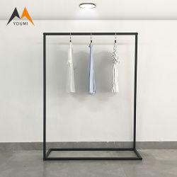 Коммерческие современные складные металлический черный дисплей магазина одежды для монтажа в стойку