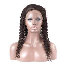 Lace Cabeleiras Dianteiro Onda profunda Remy cabelos tingidos nós 100% de cabelo humano com a linha natural do cabelo Guleless