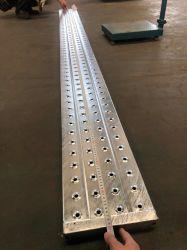 das 240*45*1.8*3000mm Baugerüst HDG Heiß-EINTAUCHEN-Galvanisierte, wie man Gestell-Weg-Vorstand-Stahlplanke-Metallplattform wartet