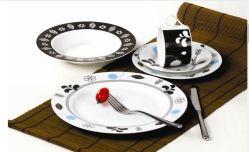 도매에 의하여 개인화되는 사기그릇 큰 접시 세트 또는 음식 격판덮개 또는 Liscence 주문 격판덮개