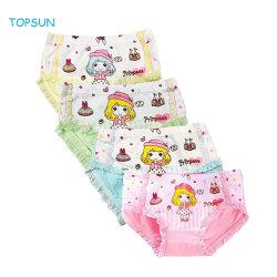 Les enfants sous-vêtements de bébé en coton confortable de la série de petites filles un assortiment de mémoires Princess culotte (Pack de 4)