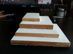 Guarnición de madera Junta S4s el dedo de la ventana de Jamba Revealdoor articulado