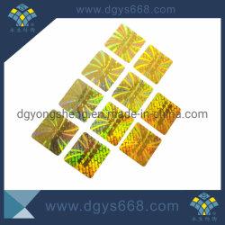 금 색깔에 있는 고품질 관례 Laser 자필 스티커