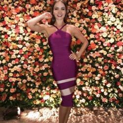 La mode italienne Bandage robe de cocktail robe de célébrité bandage
