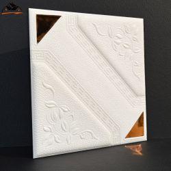 Painel de tijolos de parede quadrado com espelho 3D Painel de parede tecto de rodapés