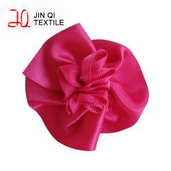 Custom Handmade coloré de polyester à bon marché de gros de ruban de satin fleur