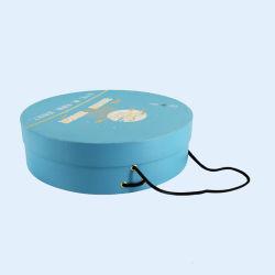 Imán de caja redonda de papel duro cuadro Personalizado Caja rodante