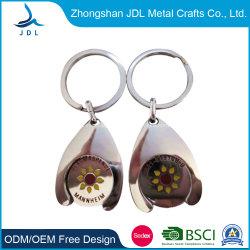 中国の顧客用ショッピングトロリー硬貨のキーホルダーのロッカーのトークン卸し売り安い金属亜鉛合金のヨーロッパのショッピングトロリートークン硬貨(50)