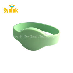 Billig OEM RFID 125 kHz Lf 13,56 MHz Hf UHF Silikon NFC Card Handgelenkband RFID Gummi Armband