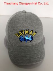Kids Jersey coton avec l'impression et Sequin Patch sports Baseball Cap
