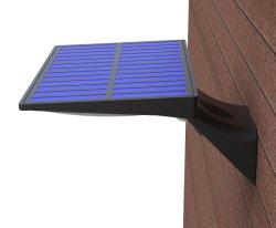 屋外の太陽塀ライト壁の台紙の無線装飾的なデッキの照明白