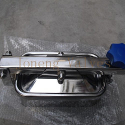 درجة غذائية من الفولاذ المقاوم للصدأ دائري باتجاه الخارج مع زجاج الرؤية (JN-ML1005)