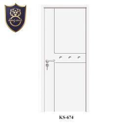 La simplicité de conception en bois massif en noyer porte d'entrée Couleur & porte de chambre