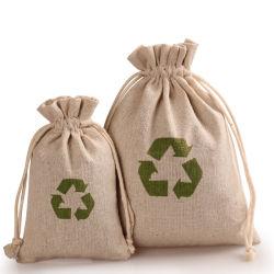 Custom Ecológico Sacola de Compras Imprimir pequenas do cânhamo Cordão Bolsa Juta jóias de café de juta saco reutilizável para o saco de juta