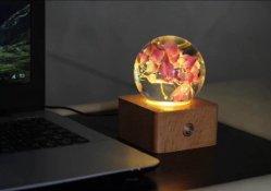 Кристально чистый звук акриловый шарик сфере рекламных свадебный подарок плотность бумаги с цветами