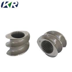 husillo y cilindro de 90mm de la extrusora doble tornillo paralela barril