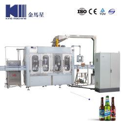 Gas gassoso CO2 automatico della bottiglia di vetro che scintilla coperchiamento imbottigliante di riempimento isobarico di Monoblock del coperchio di parte superiore della birra della fabbrica di birra della bevanda della bevanda dell'acqua facendo macchina