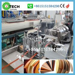 Cordón de protección perimetral PVC fabricante de máquinas de extrusión maquinaria para la guarnición del borde de plástico del Gabinete de cinta de cantos de tableros de partículas máquina de producción