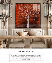 De Kunst van de Muur van de boom op Geschilderde Beeld van het Decor van de Muur van de Kunst van het Kunstwerk van de Schilderijen van het Metaal het Abstracte Moderne Hand