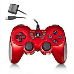 PS2/PS3/PC/X-Input/Android装置のための1つの多機能のワイヤーで縛られたコントローラに付き5つ