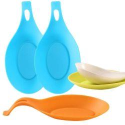 Stuoia creativa del cucchiaio del silicone della strumentazione della cucina di resto del cucchiaio