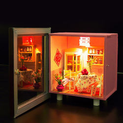 Filhos de venda quente Mini Boneca de brinquedo casa de madeira escura