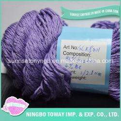 Filato di bambù di lavoro a maglia del lustrino di miscela viola operata del branello per l'indumento