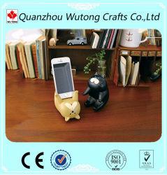 Conception CAT couché de résine Affichage Mobile stand Support de téléphone cellulaire