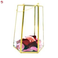 واضحة زجاجيّة مربّع/مستطيلة إناء زهر لأنّ بيتيّة زخرفة وطاولة جزء أساسيّ