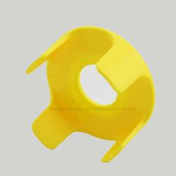 Gelber Plastikdrucktastenschalter-schützender Schild-Schutz