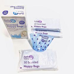 PE HDPE LDPE PLA Pbat PVA Compostable impresión personalizada para el color de basura basura perfumada ecológica de la bolsa de pañales de bebé Pañales biodegradables Bag
