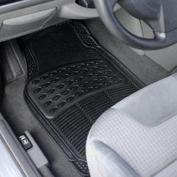 Усовершенствованная ПВХ 4 штук полный комплект черный резиновую ножку коврики пола автомобиля