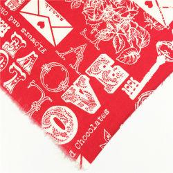 Vermelho de moda T/C roupa de algodão Tecido de poliéster para vestir a camisa//calça/saco/Calçados
